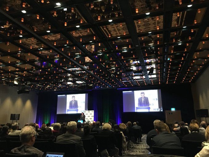 Minister for Social Services @DanTehanWannon closes day 1 of #NDSDAW18. Thank you all for a wonderful day of discussion - let's now celebrate excellence in disability employment at tonight's awards event Photo