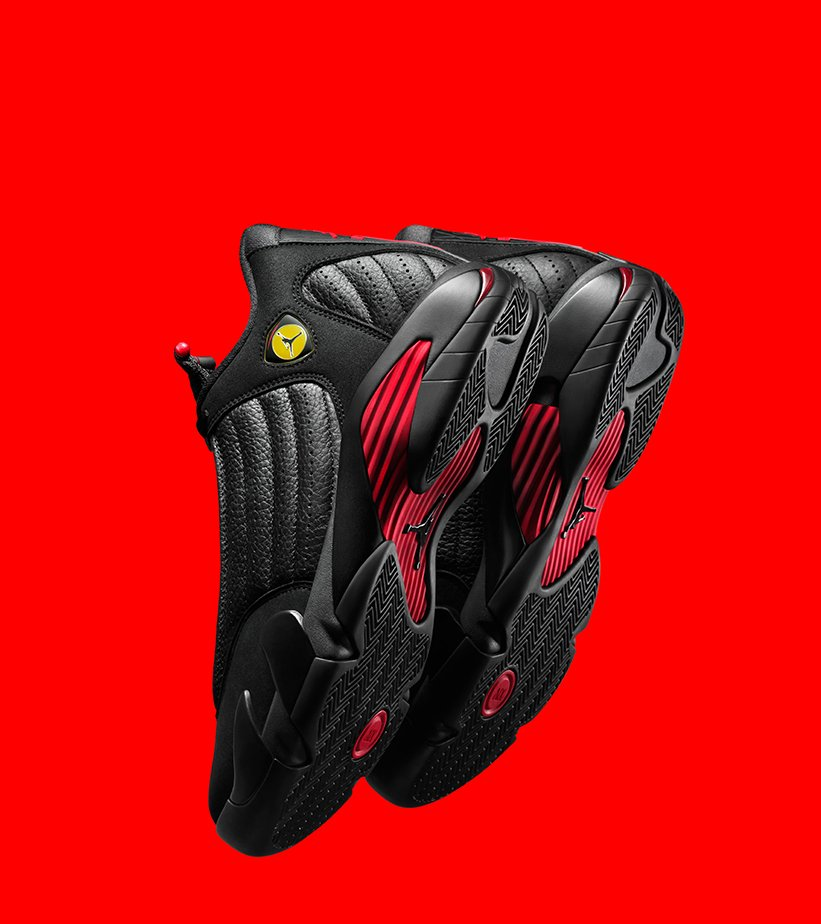 "6c09c387 Commemorate what would ultimately become Jordan's last shot as a Chicago  Bull with the @Jumpman23 #Jordan 14 Retro ""Last Shot"". Now available online  and in ..."