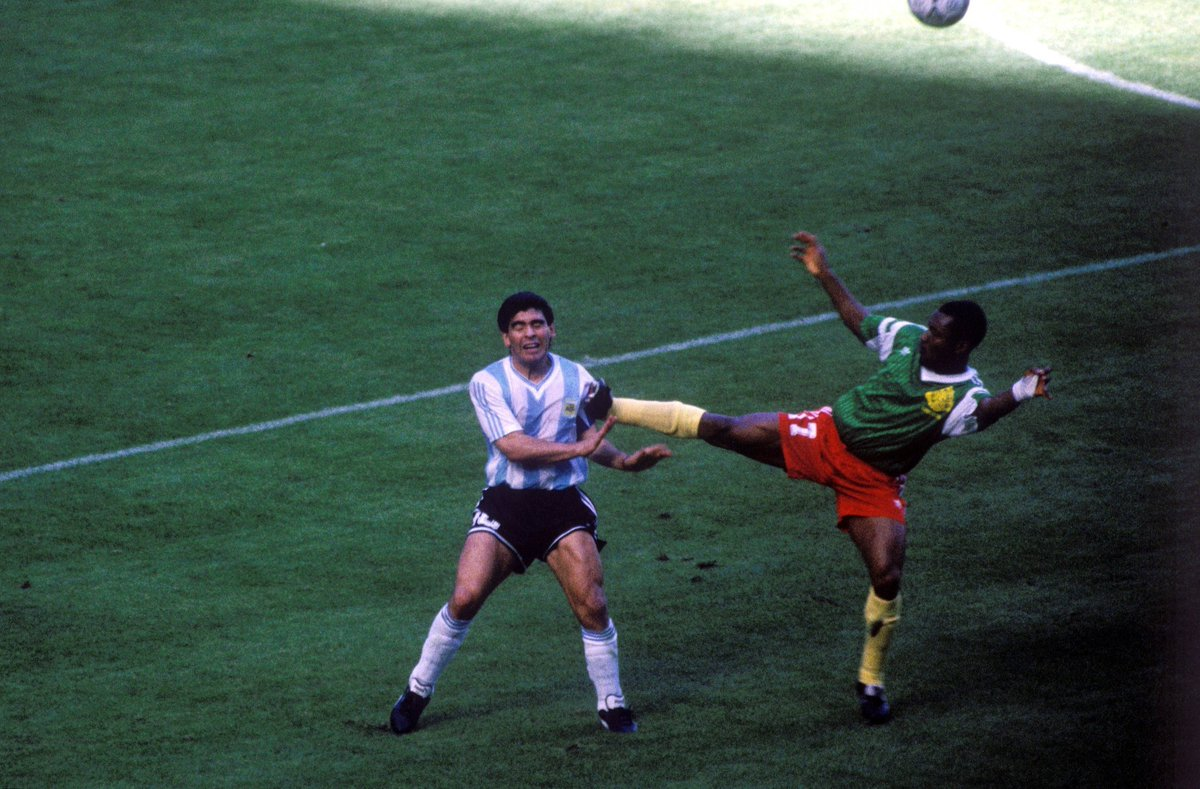 """Classic Football Shirts ar Twitter: """"Argentina v Cameroon 1990 was ..."""