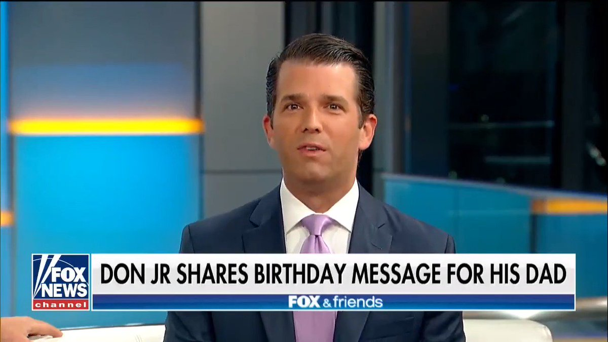 """Happy birthday, Dad!"" -@DonaldJTrumpJr shares birthday message for his father"