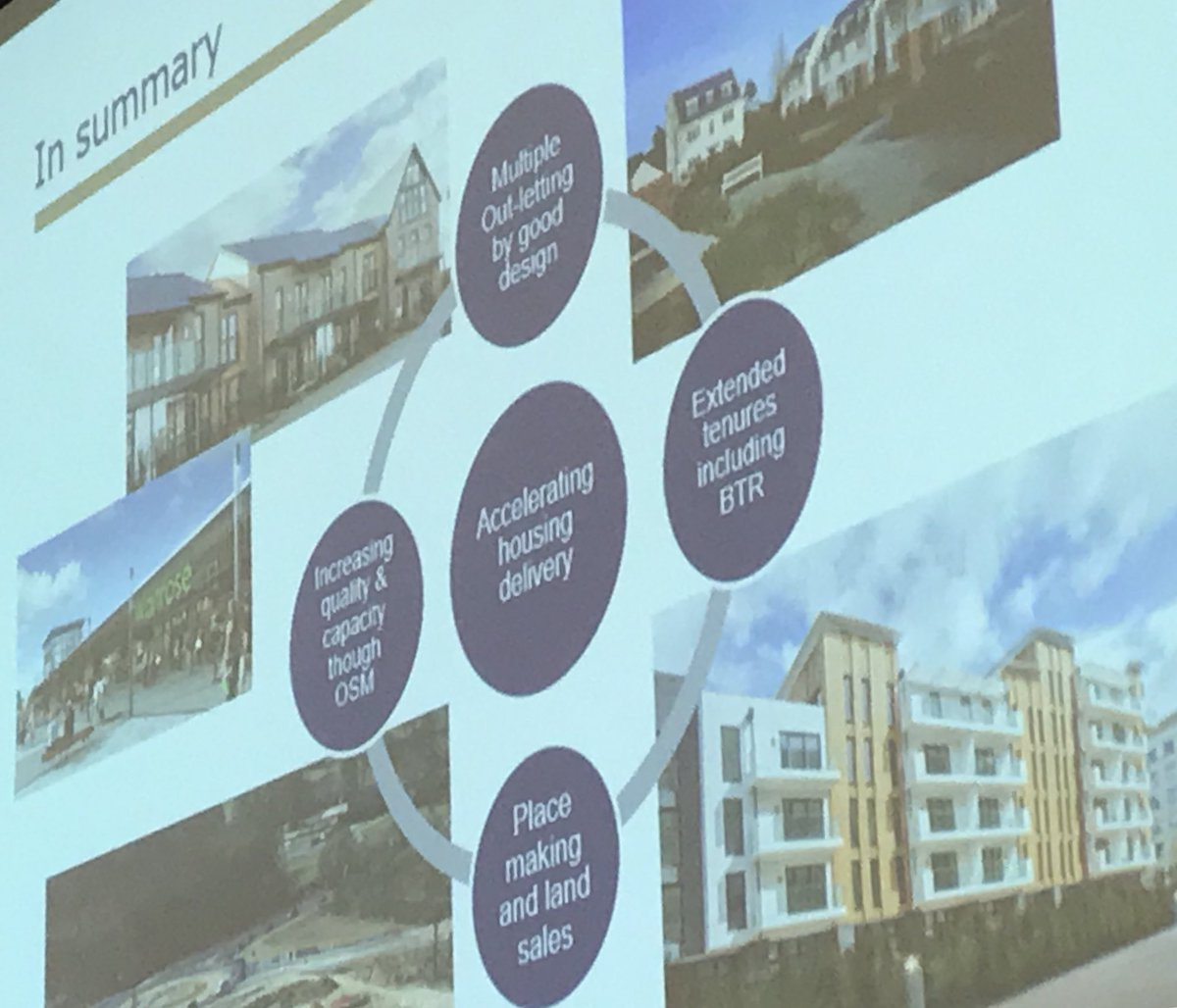 Today's #NewCommunitiesGroup seminar tackles how to accelerate delivery on large sites. So far we've discussed lessons for new models of Development Corporation, a new role for @HomesEngland with Dept Chief Exec Tom Walker & off-site construction with Chris Tinker @CrestNicholsonpic.twitter.com/pJdk4DeiGu