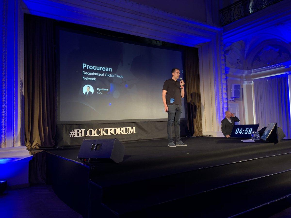 Žiga Vajdič taking the stage at the #BlockForum ICO competition. #Procurean #ICO #Blockchain https://t.co/qO6yeOTcBn