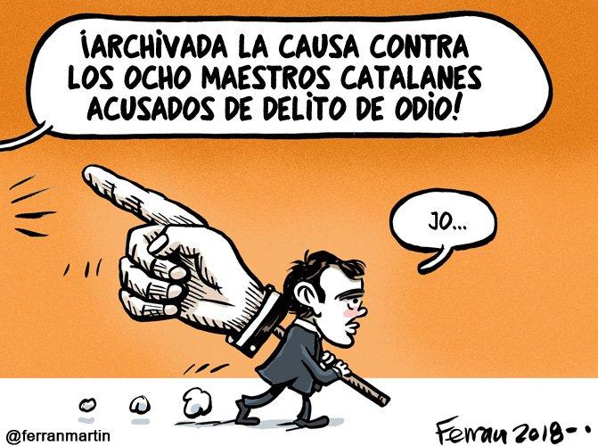 El dedito. Viñeta vía blog #HumoristaDisponible: ferranhumor.wordpress.com/2018/06/14/el-… #laSeu #urgell