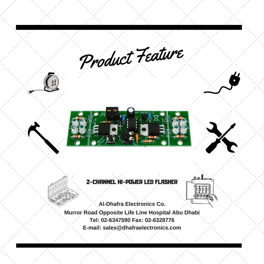 Al Dhafra Electronics On Twitter The 2 Channel Hi Power Led Flasher Circuit Diagram 239 Am 14 Jun 2018 From Abu Dhabi United Arab Emirates