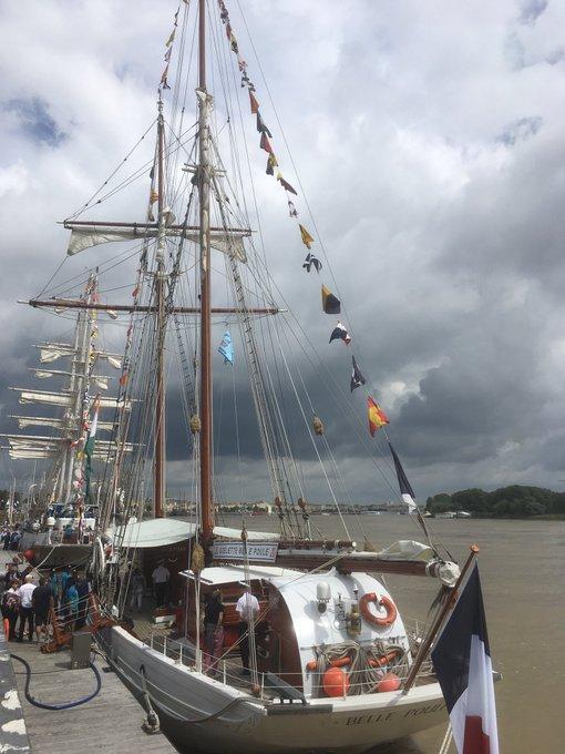 La Belle Poule est, avec son sister-ship l'Étoile, une goélette à hunier, appelée aussi goélette paimpolaise. #BFV2018 >> Photo