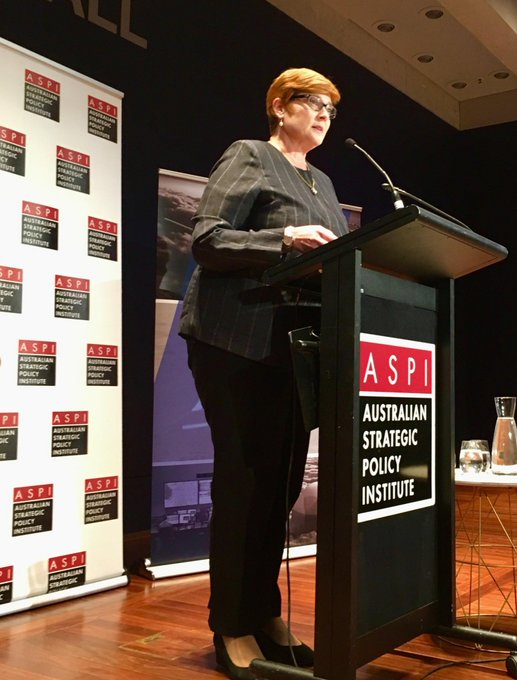 .@MarisePayne says we have entered a new time of space - governments are only responsible for a quarter of the space economy, while commercial entities do the rest #ASPISpace Photo