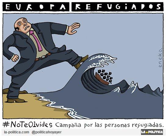 #NoTeOlvides de la tragedia de los refugiados. Viñetas para tus tuits y unirte... ▶️la-politica.com/humoristas-gra…