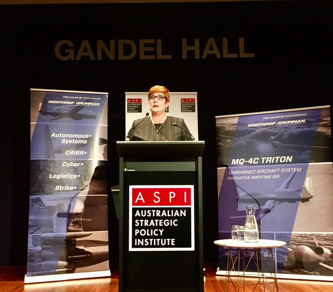What an amazing opportunity to hear Minister for Defence, the Hon @MarisePayne, speak at @ASPI_org #ASPISpace Conference Dinner on Australia's new space agency Photo