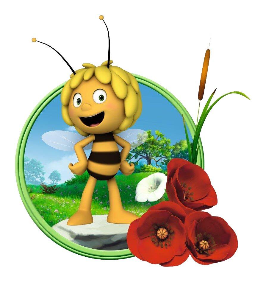 Картинки пчелка майя на цветке, видео