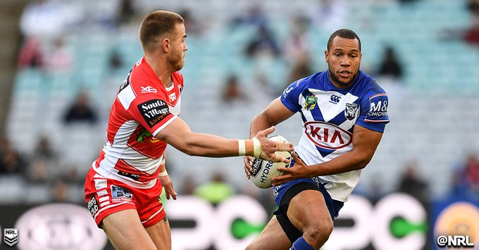 Moses Mbye expected to finalise mid-season switch to the @WestsTigers tomorrow, but not before a final farewell for @NRL_Bulldogs in #NRLBulldogsTitans on Saturday: #NRL Photo