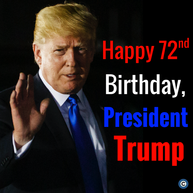 President Donald Trump turns 72 today. Wish the 45th president a happy birthday! Photo: AP