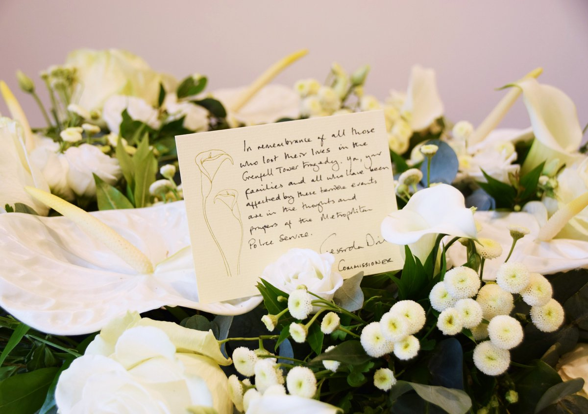 #GrenfellTower 'In remembrance of all those who lost their lives in the Grenfell Tower tragedy. You, your families and all who have been affected by these terrible events are in the thoughts and prayers of the Metropolitan Police Service.' – Commissioner Cressida Dick