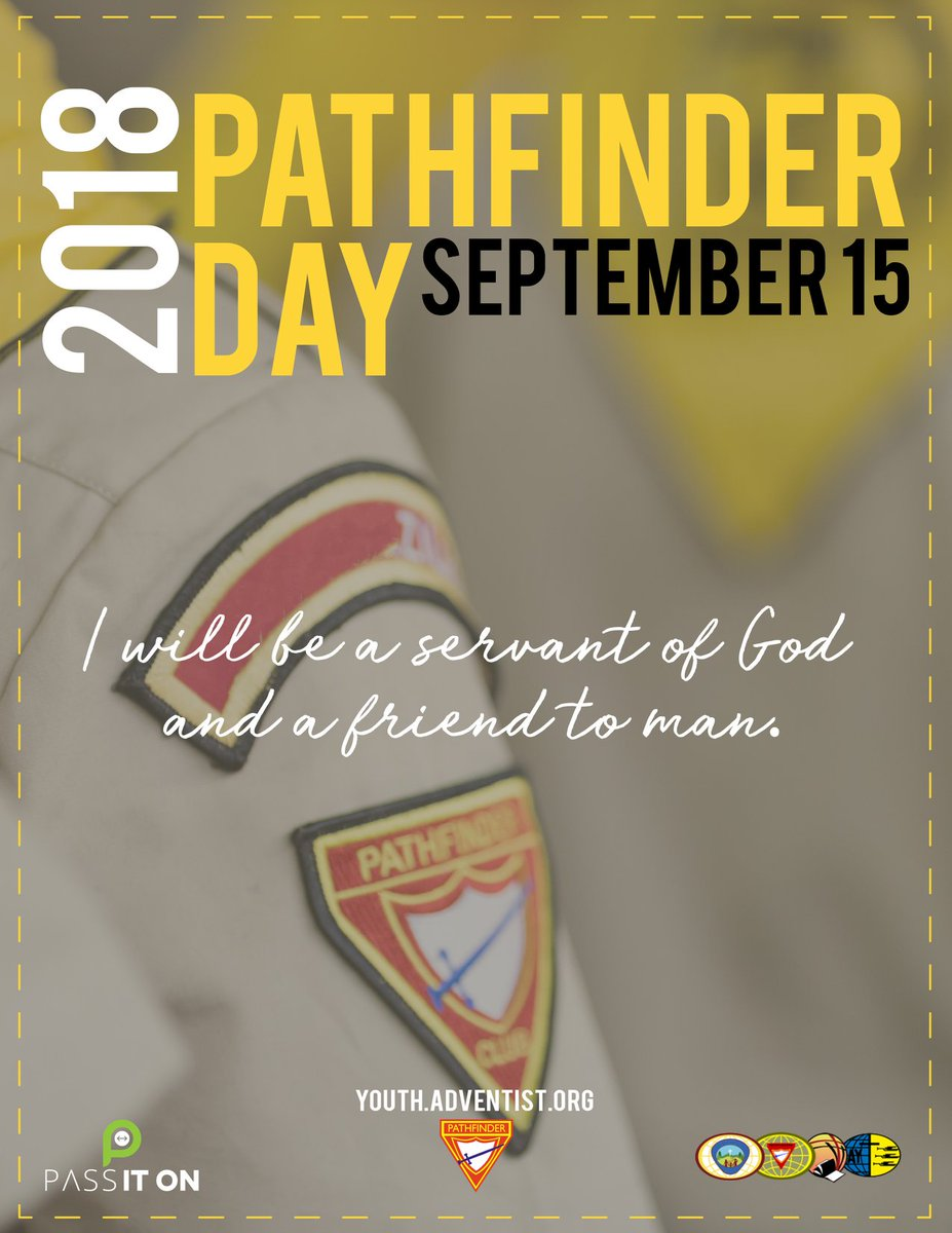 GC Youth Ministries On Twitter World Pathfinder Day Is September 15 2018 Pathfinderday2018
