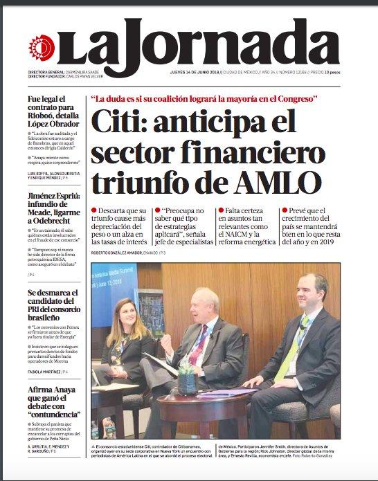 La portada de hoy de @LaJornada https://t.co/rMxSlzOpXS https://t.co/G7VhZeJPGy