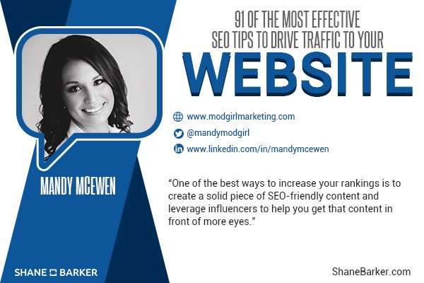 .@shane_barker featured our founder & CEO @MandyModGirl & her most effective #SEO tips in this roundup of #mktg pros: https://t.co/X7XZ0PJgfG