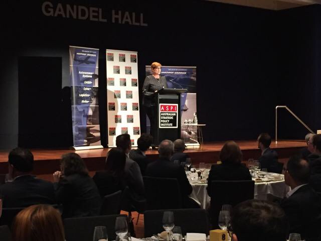 Addressing the @ASPI_org 'Building Australia's Strategy for Space' conference tonight at the @NatGalleryAus in Canberra. It's essential that we work now to ensure our future defence preparedness in the space domain. #ASPISpace Photo