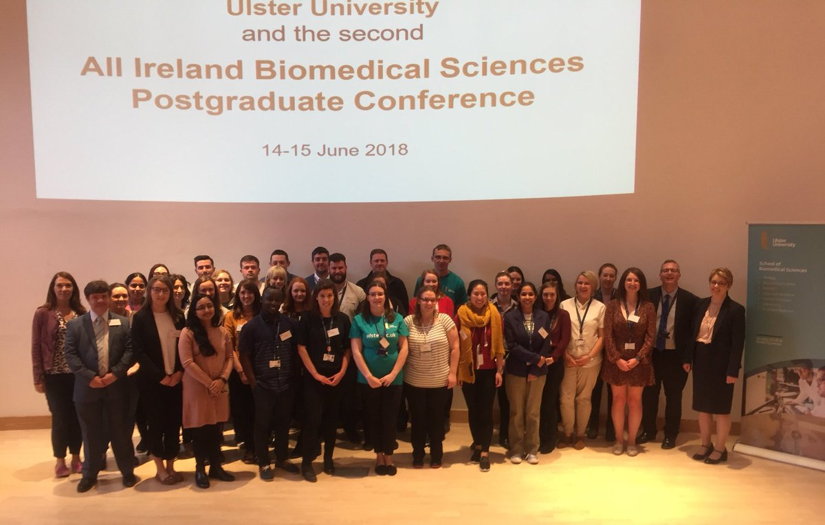 @UlsterUniBiomed are delighted to welcome postgrads to the second All Ireland Biomedical Science Postgraduate Conference #ResearchExcellence  #GoingPlaces<br>http://pic.twitter.com/gGiF35uxko
