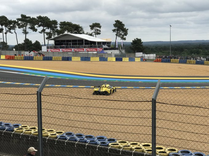 Tricky spot. The Dunlop curves are catching out several cars. #LeMans24 Photo