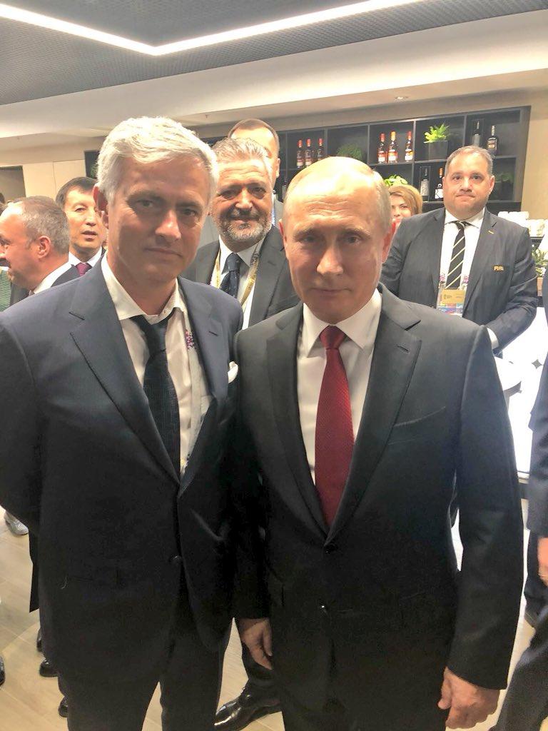 Bildresultat för putin and mourinho
