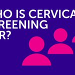 Image for the Tweet beginning: Cervical screening is for people