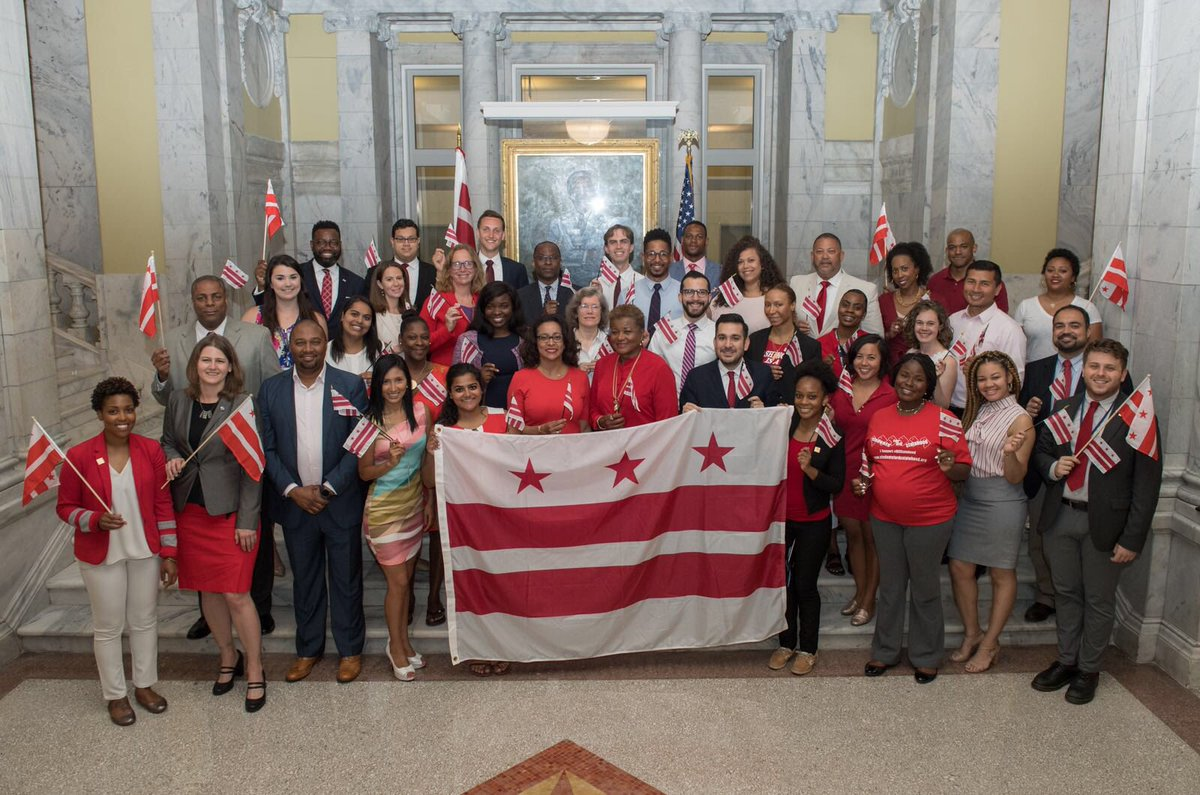 On this #DCFlagDay, we celebrate our flag as we strive for access to full democracy and #DCStatehood. We are a thriving, diverse, inclusive, and welcoming community. We are DC! Our residents deserve full representation that is afforded to the rest of America. #51<br>http://pic.twitter.com/wRXEpP0iDK
