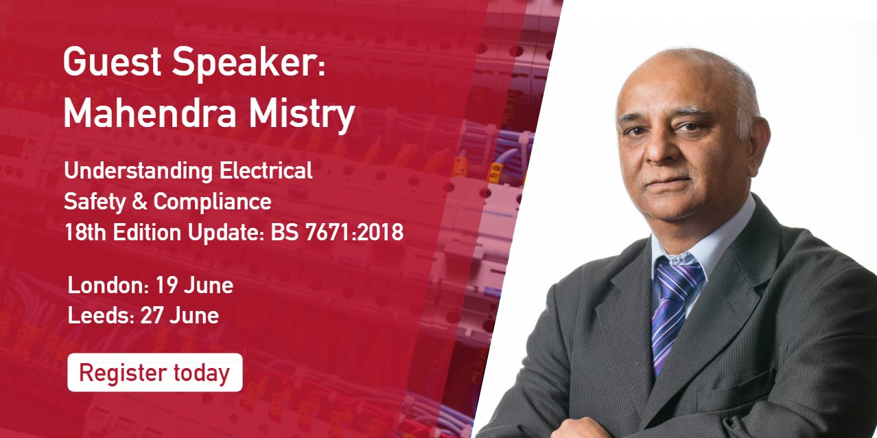 Bureau Veritas Uk On Twitter Speaking With 42 Years Experience As Iet Wiring Regs Books An Electrical Engineer Mahendra Mistry Will Be Giving Insights Into The Upcoming 18th Edition Of Regulations Book Your