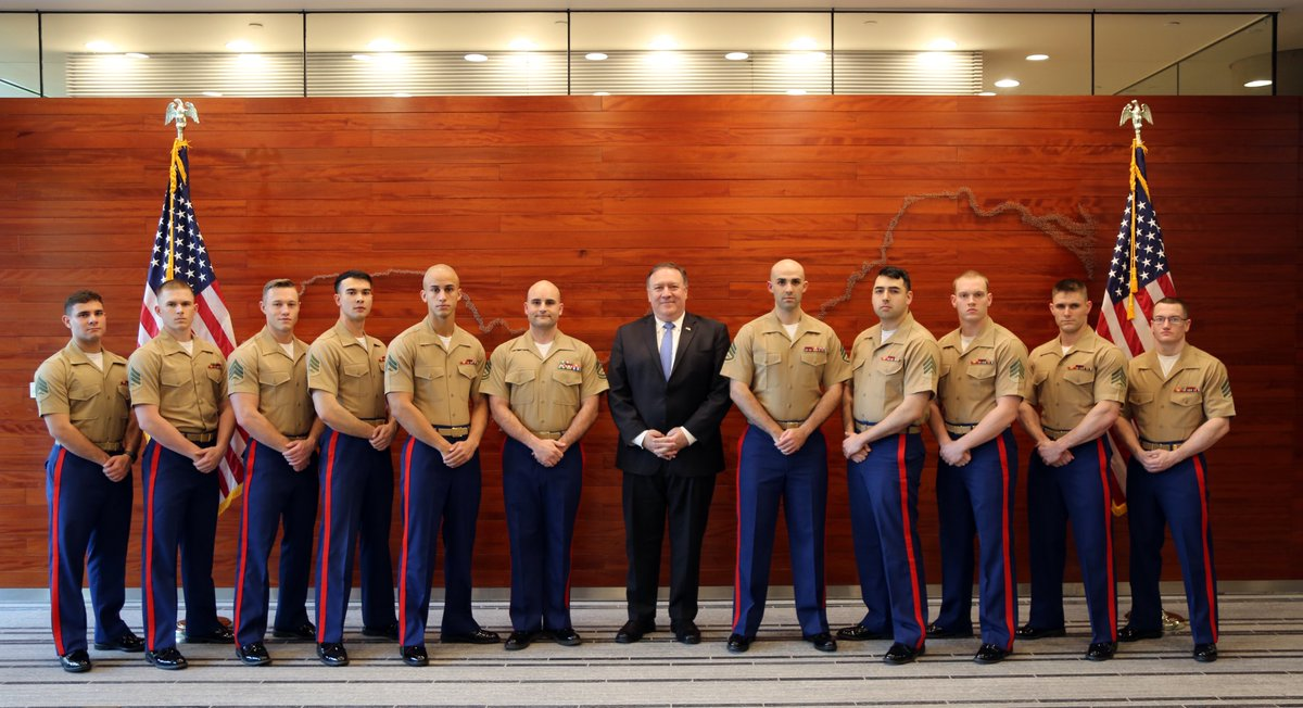 Honored to stand with a great group of @USMC in Beijing. Thankful for their sacrifice. Semper Fi!