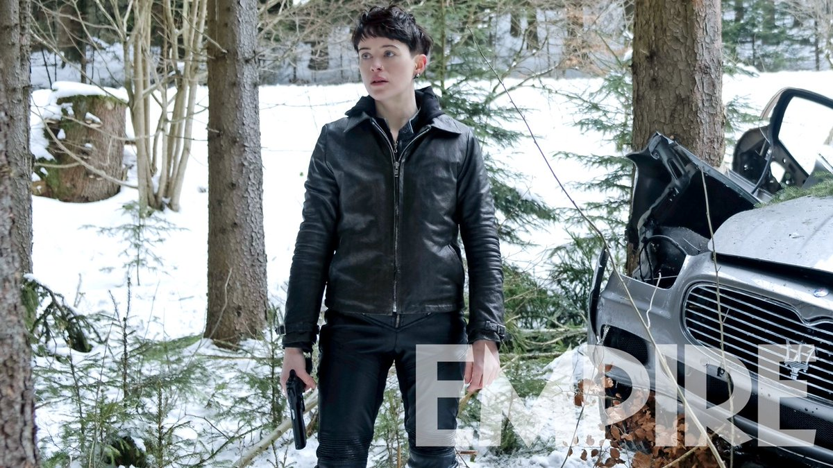 Queen Elizabeth no more... Heres an exclusive new image of Claire Foy as #TheGirlInTheSpidersWebs Lisbeth Salander: empireonline.com/movies/news/gi…