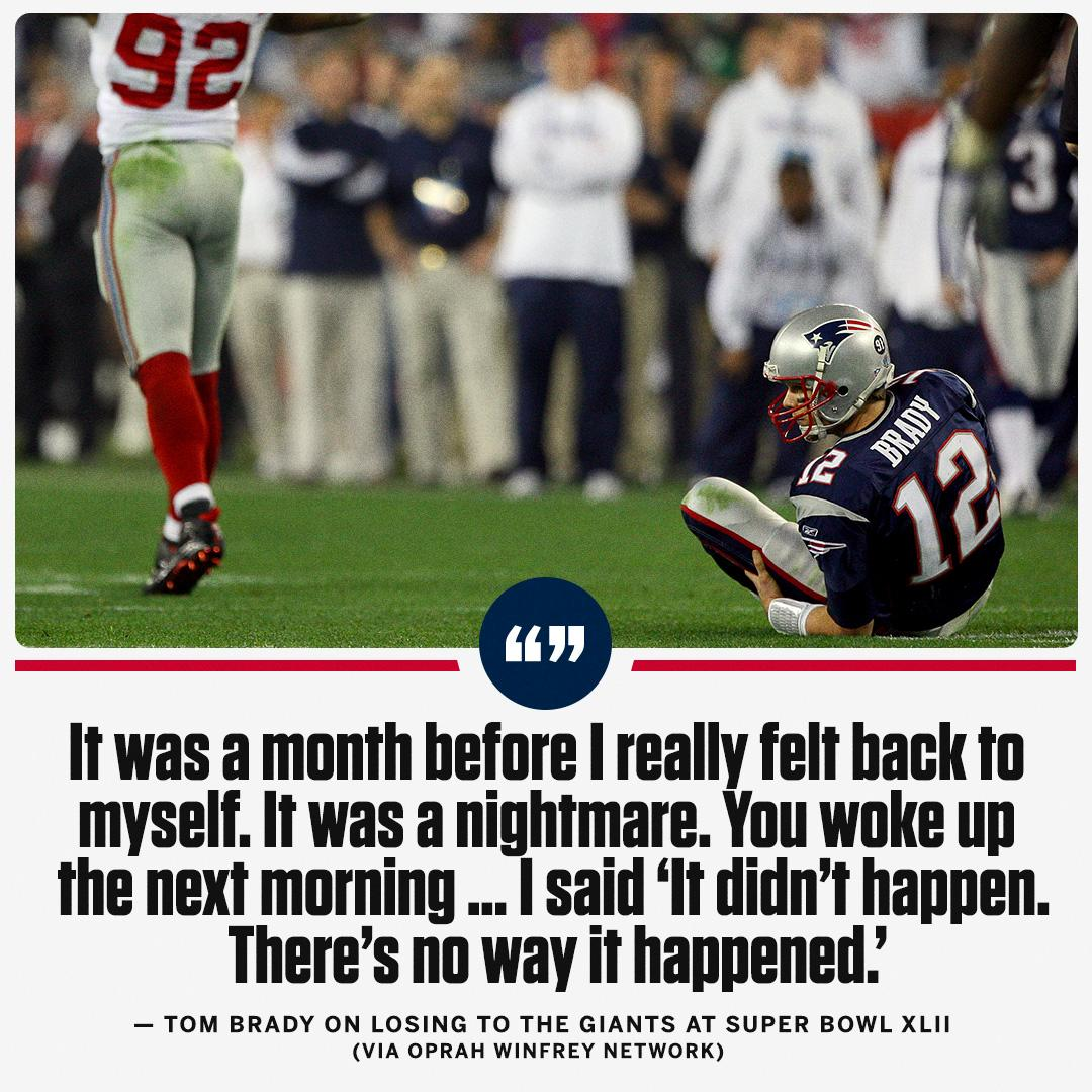 It took Tom Brady a while to get over that Super Bowl XLII loss to the Giants. https://t.co/1rmbqTjFKG