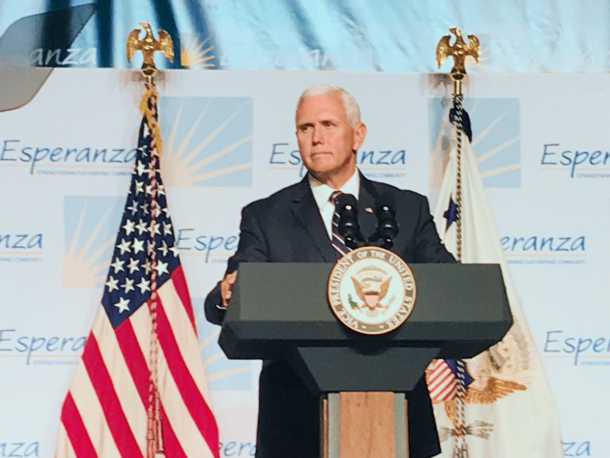 Hasil gambar untuk VP Pence speaks at Hispanic Prayer Breakfast