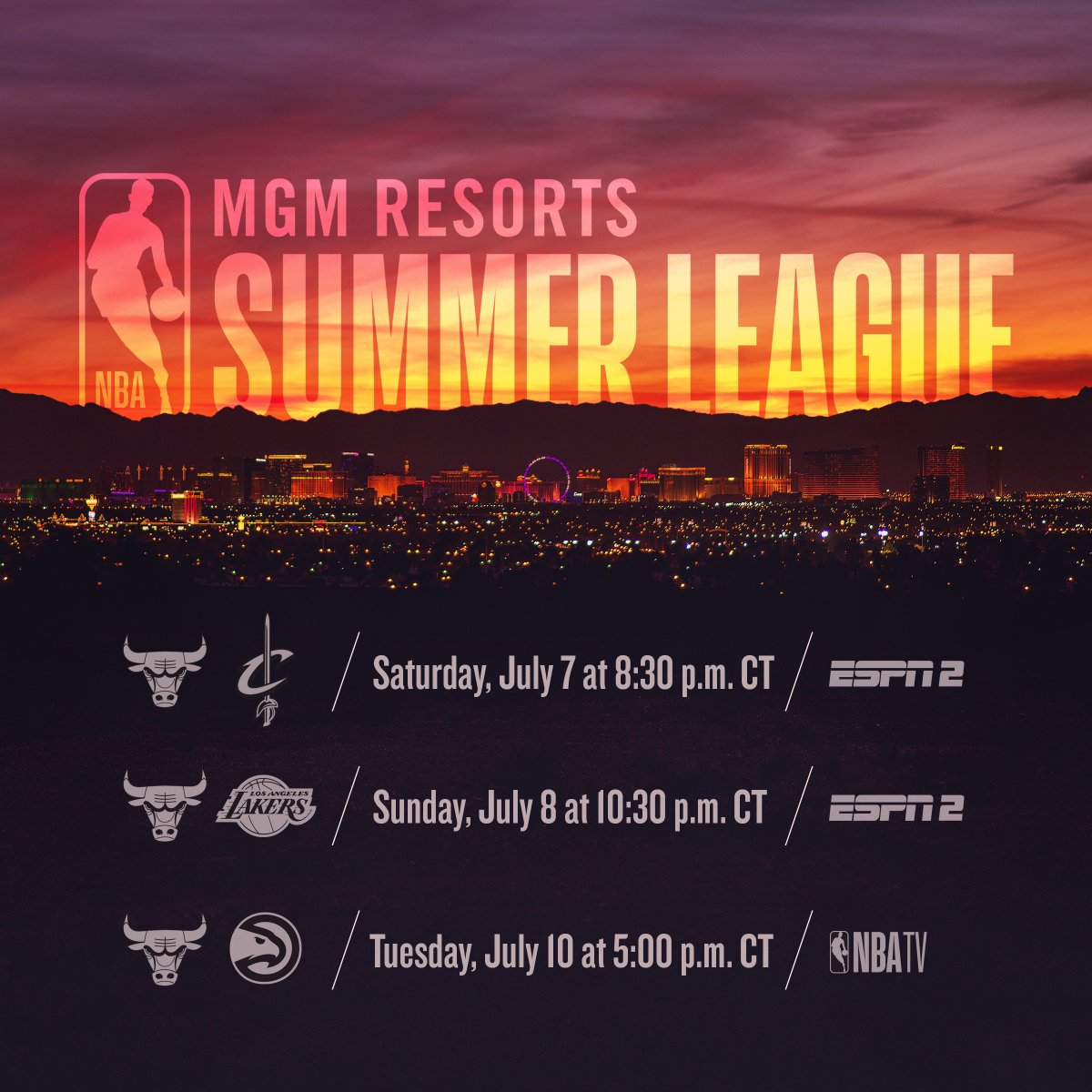 ICYMI: Our @NBASummerLeague schedule has been announced!