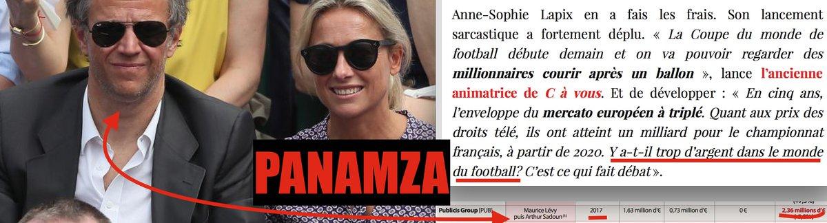 Anne-Sophie Lapix, les «millionnaires» du foot, Publicis et Israël