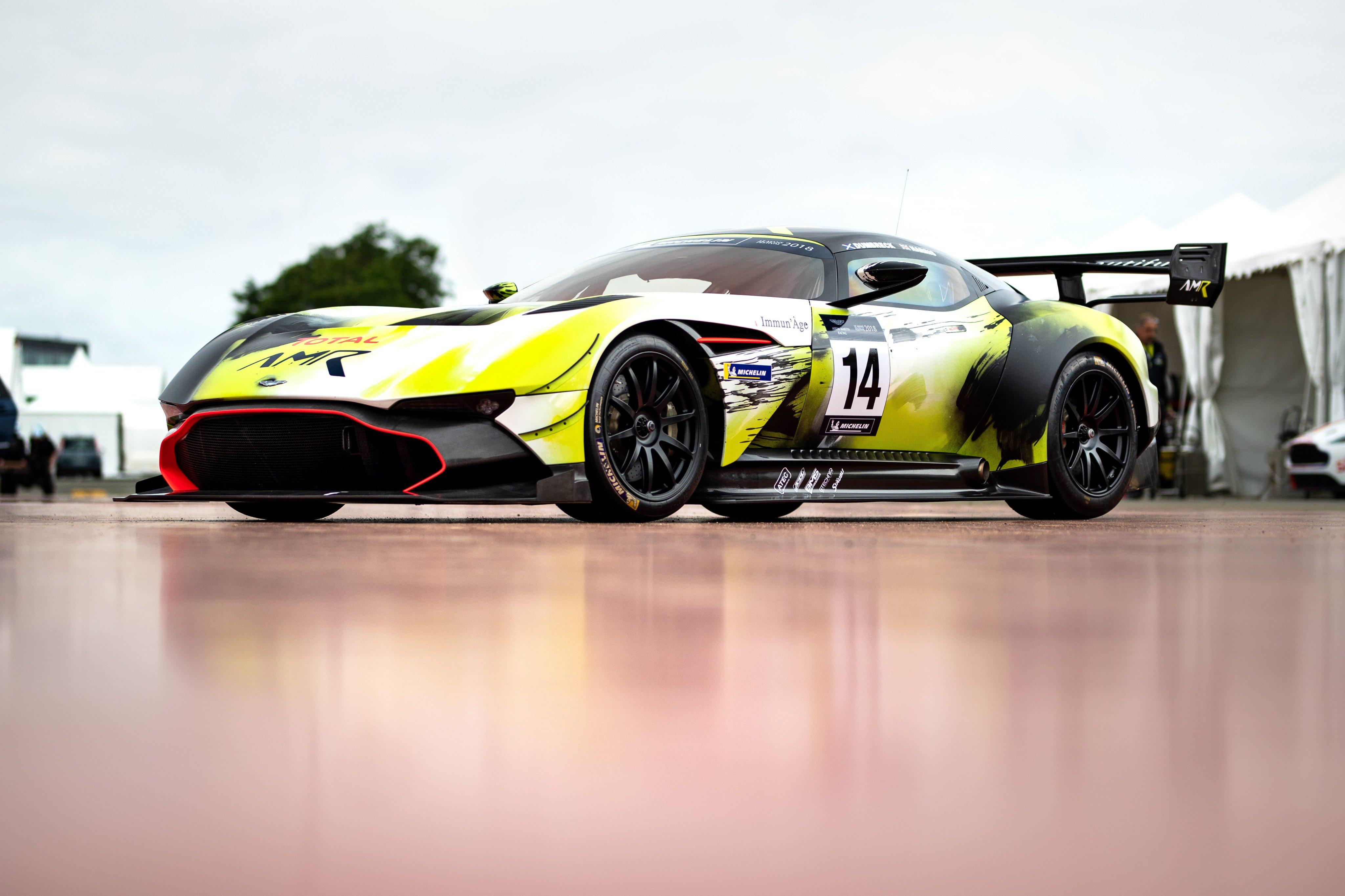 Semi Ot Aston Martin Vulcan Of Chris Harris And Peter Dumbreck That Will Race In Aston Martin Festival Wec