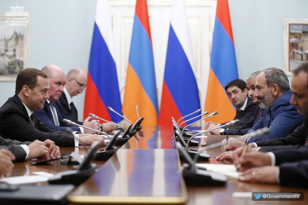 Dmitry Medvedev had a meeting with Prime Minister of Armenia Nikol Pashinyan