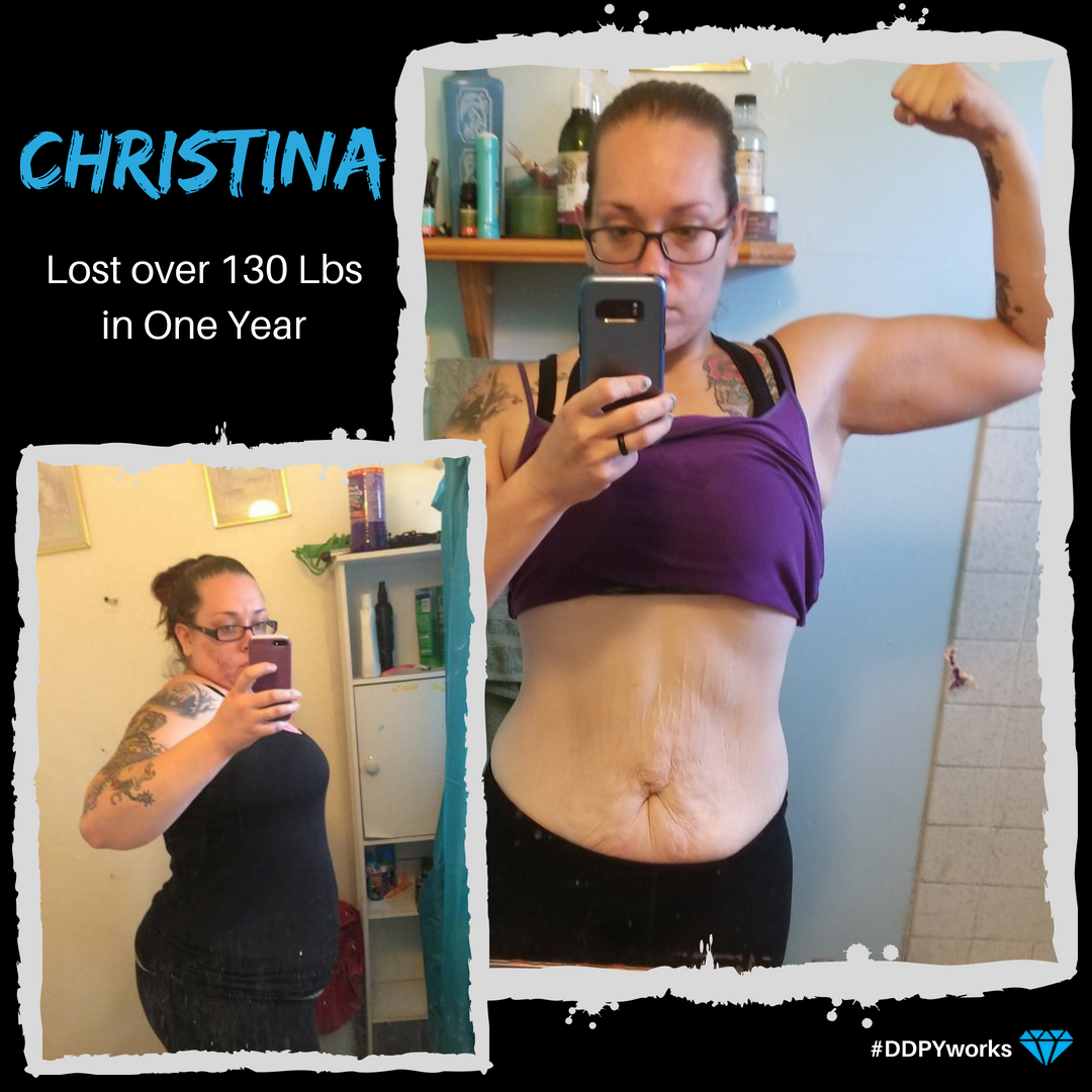 Christina worked her ass off to lose just over 130 lbs in one year. With all the hardcore workouts she was doing, she needed something to help her body recover. Now she does DDPY after every workout and feels GREAT! #DDPYworks ddpy.co/2HMISaV