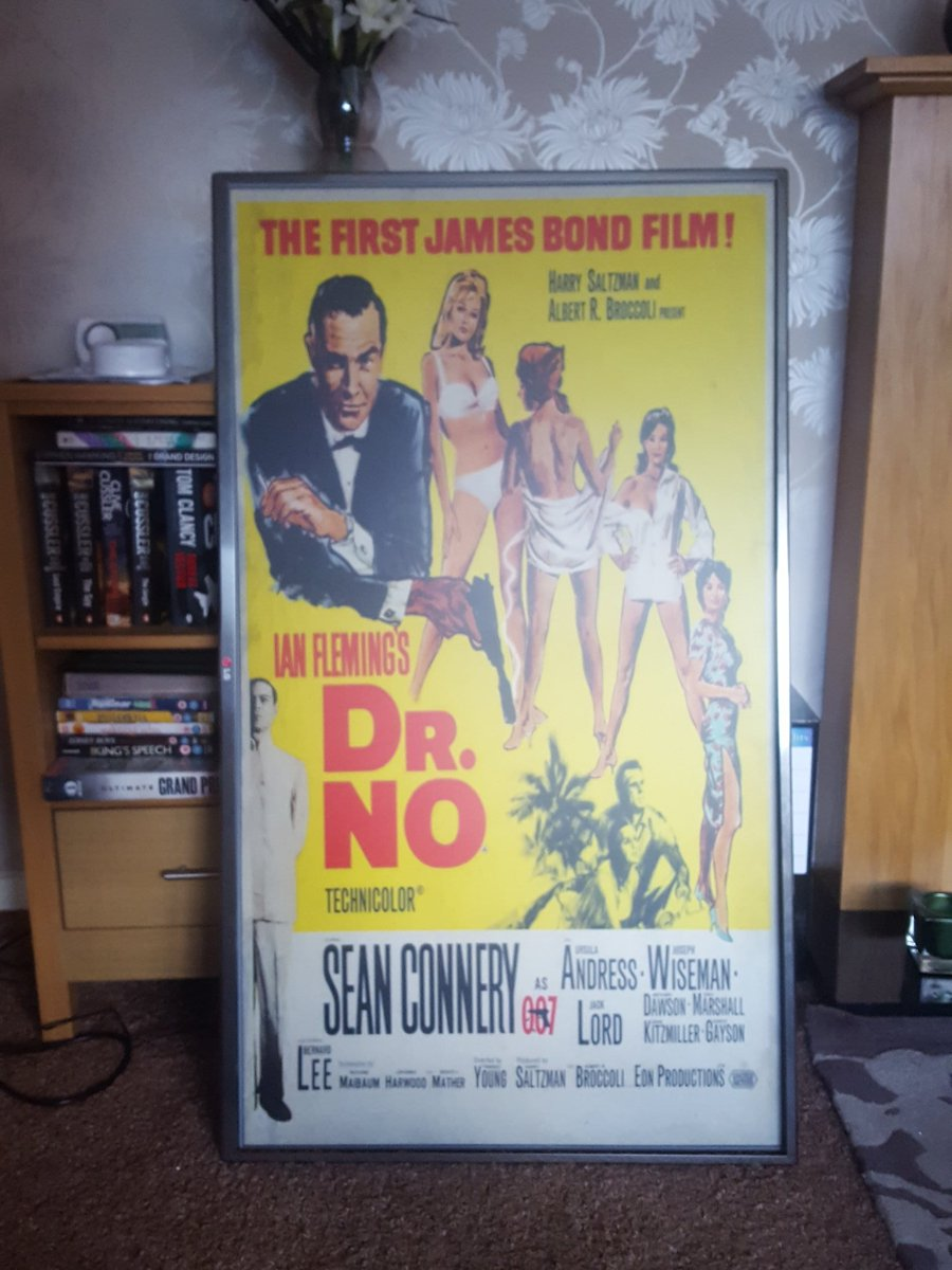 "So what to do with your old LG 48"" telly, turn it into a movie poster lightbox o..."