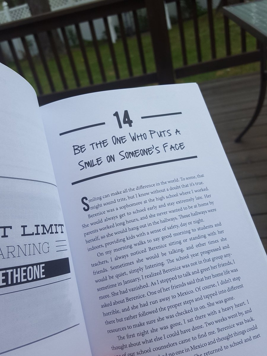 Doing some reading on my deck! #BeTheOne