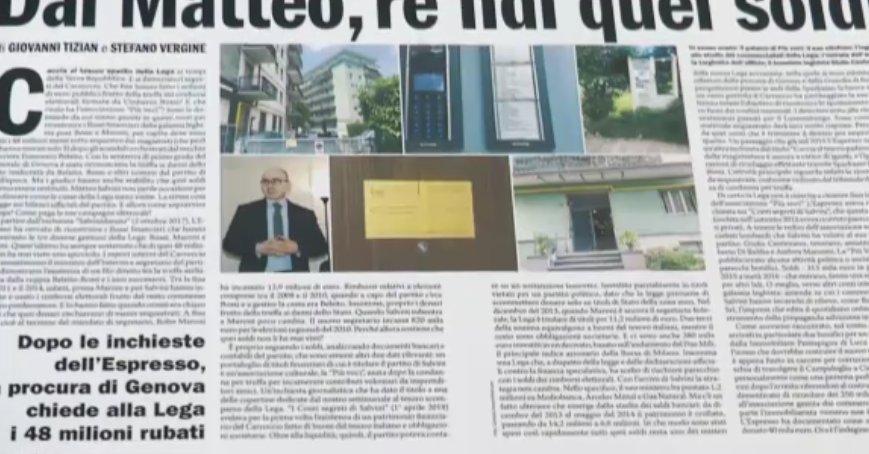 Dai Matteo, rendi quei soldi. Gli affari gialloverdi su #domenicaEspresso https://t.co/5TkgHjBTWM   @GiovanniTizian @StefanoVergine