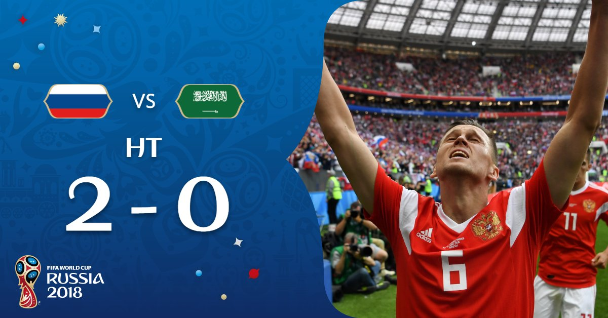 Aside from an injury to Alan Dzagoev, the perfect half from #RUS #RUSKSA #WorldCup @TeamRussia