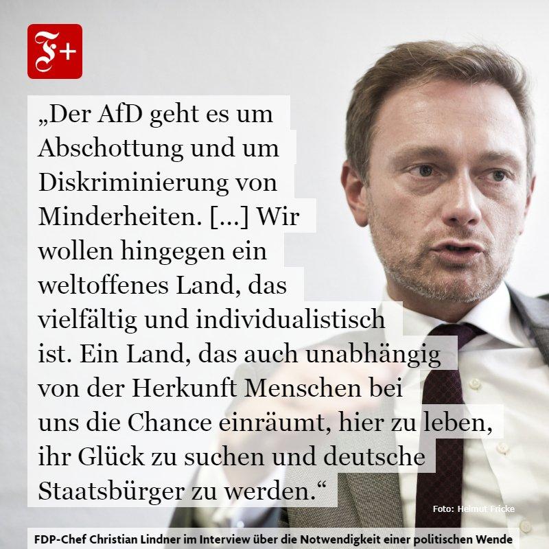 In der #FAZWoche fordert @c_lindner klare Regeln für die Einwanderung. Und stellt sich gegen #Merkel-Bashing. Jetzt lesen mit #FAZplus: https://t.co/IYIyjmFRlF