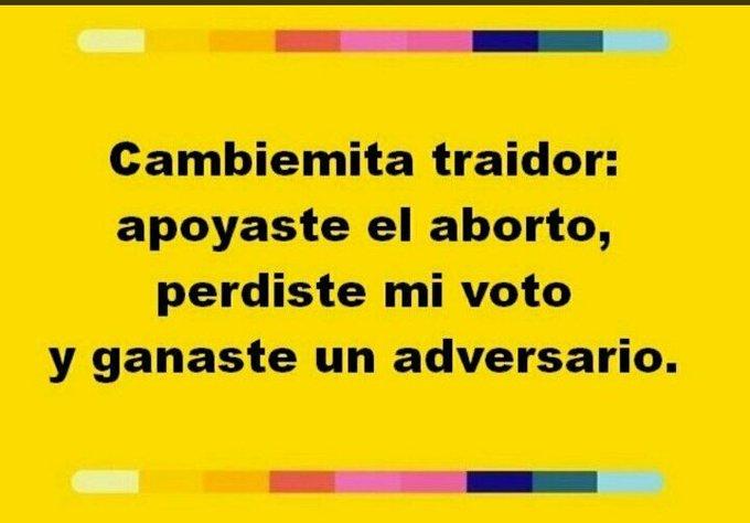 #ArgentinaEsProVida Los votos de La Pampa por dinero. Macri SÍ quiere que salga esta ley. Foto