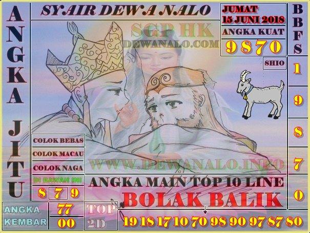 Syair Dewa Nalo Jumat 15-06-2018