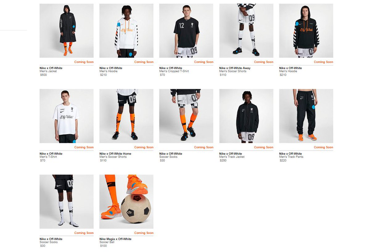 56c9138cb6ea3 ALMOST LIVE Off White x Nike  Football Mon Amour  Apparel Collection     http   bit.ly 2l8bGlh Zoom Fly Mercurial Flyknit  Black http   bit.ly 2l8SaoF ...