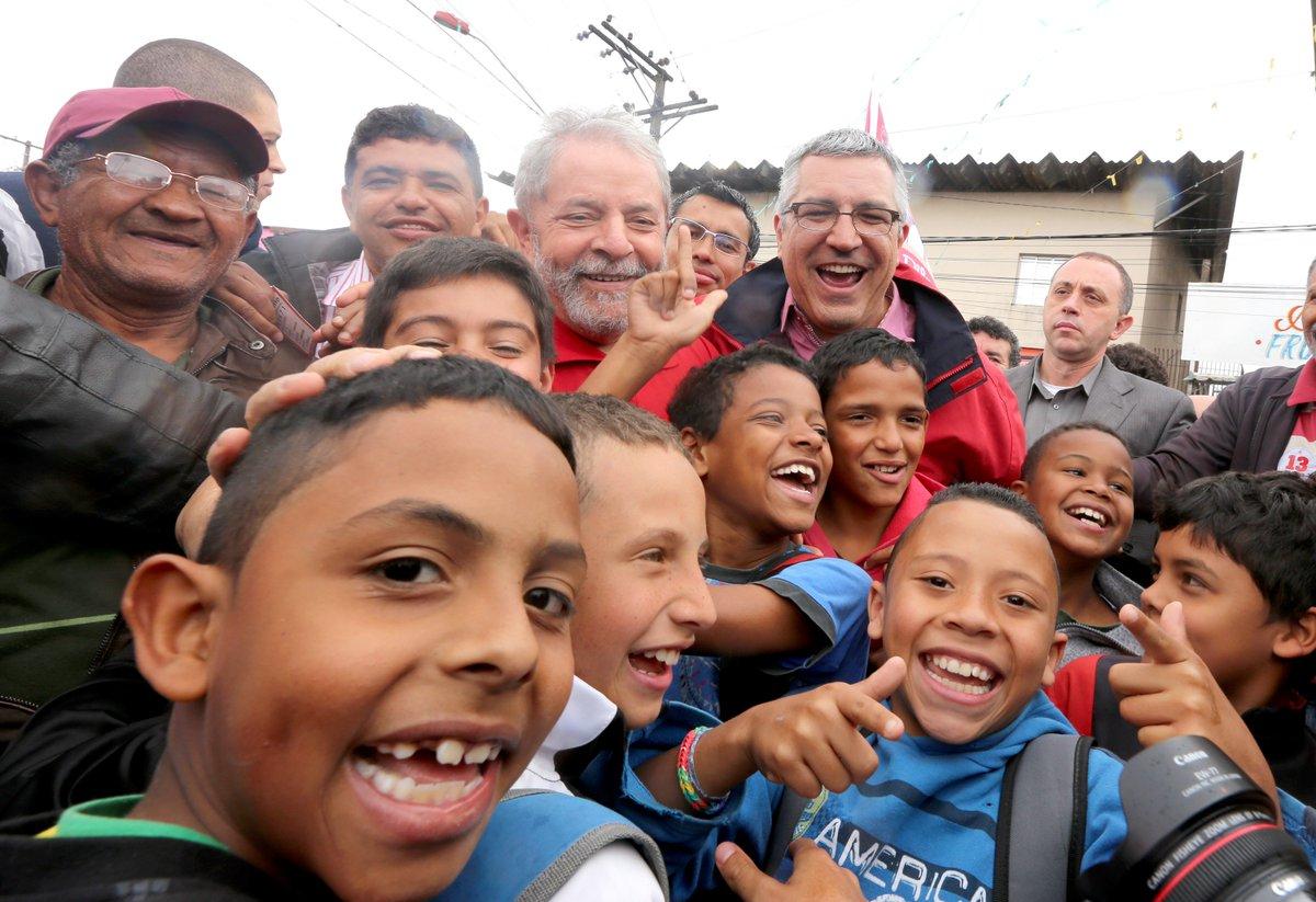 #TBT Há 4 anos, com o melhor presidente que o Brasil já teve e o pessoal de Diadema. Foto: Paulo Pinto