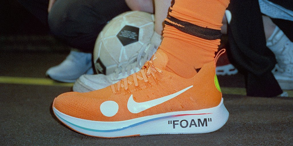 ed68b3eb6d5e football mon amour the draw for the off white x zoom fly mercurial flyknit  total orange