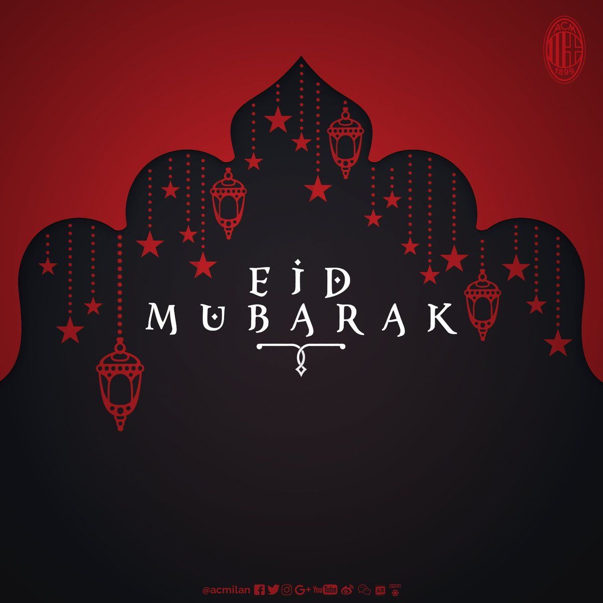We wish all our Muslim friends and Rossoneri fans around the world a happy and peaceful #EidMubarak!