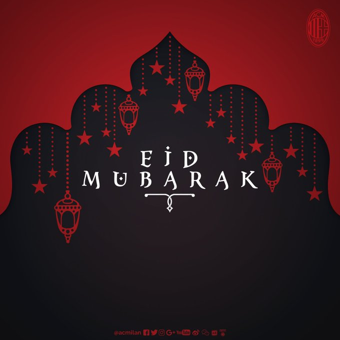 We wish all our Muslim friends and Rossoneri fans around the world a happy and peaceful #EidMubarak! Photo