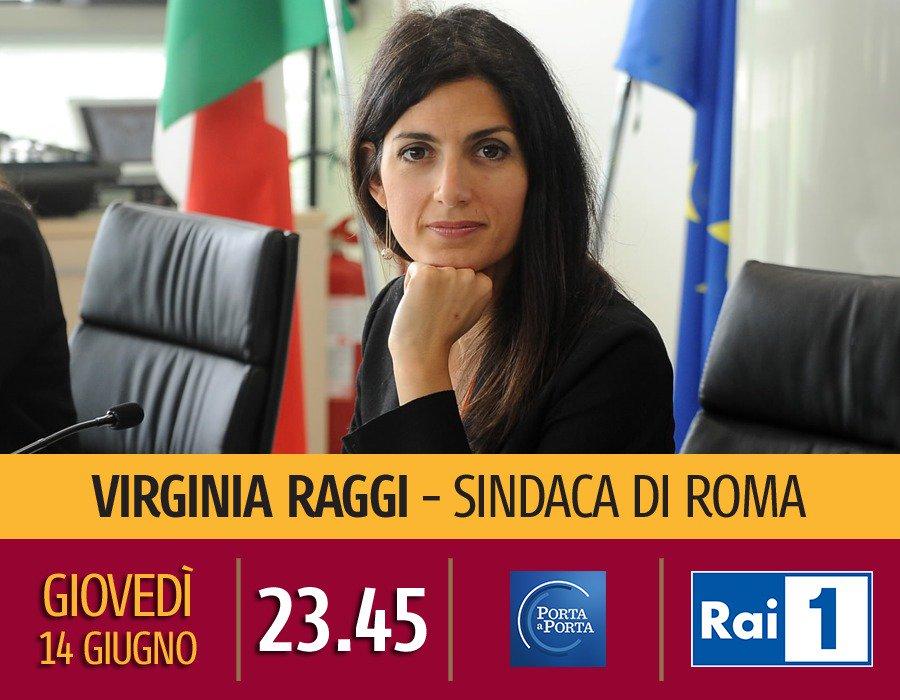 Stasera seguitemi su @RaiUno. Sarò a #PortaaPorta ospite di Bruno Vespa e ho qualcosa di molto importante da dirvi. Non mancate