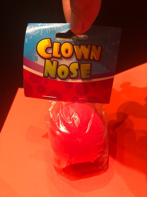 Hmm. What's in store for us today? Never been to a conference that distributes clown noses before. Hope I'm in the right room 😆 #NDSDAW18 Photo