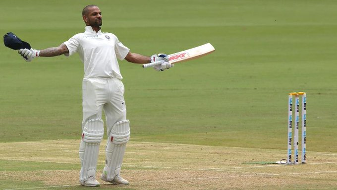 """""""Since I dominated, I enjoyed it @SDhawan25 reacts to his blistering century before on the first day of #INDvAFG READ 👇 Photo"""